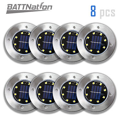 Solar Ground Lights,Garden Pathway Outdoor In-Ground Lights With 8 LED (8 pack) ()