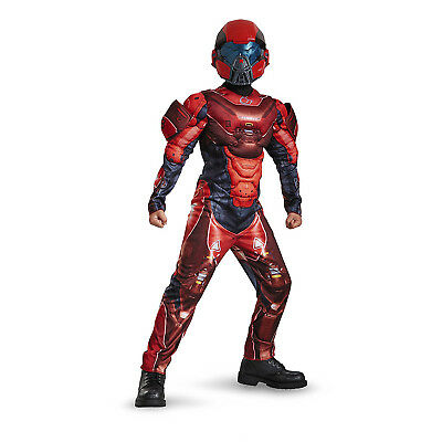 Red Spartan Halo (Red Spartan Classic Muscle Halo Microsoft Video Game Character Costume | 97542)