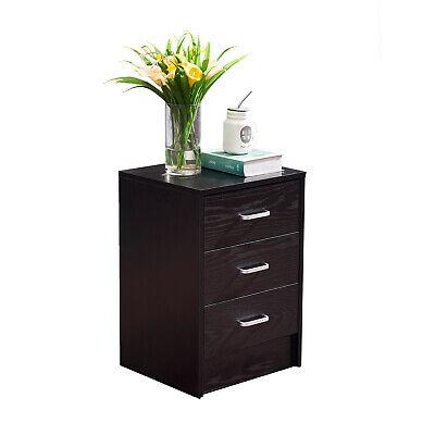 3-drawer Filing Cabinet File Storage Organizer Home Office Black