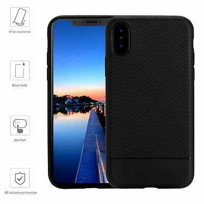iPhone X Soft Case Shockproof Rubber Best Silicone Cover for Apple 2017