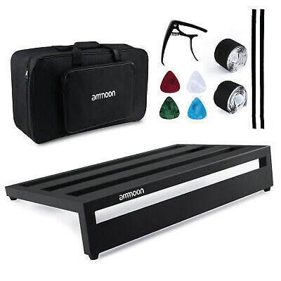 Guitar Effect Pedal Board Pedalboard Aluminum Alloy w/ Carry Bag Capo Picks D9R5