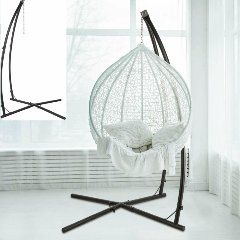 Hammock C Stand Solid Steel Construction For Hanging Air Porch Swing Chair  US