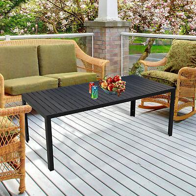 Geliebte Gartentisch Alu WPC Terrassentisch Balkontisch schwarz @ID_91