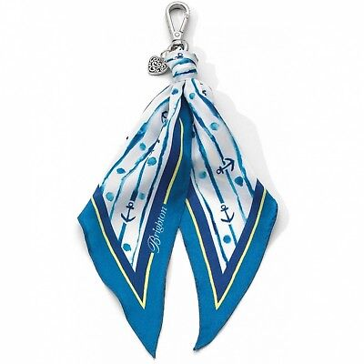 NWT Brighton INDIGO BLUES Scarf Fob Let's Hang Out Nautical Anchor MSRP $40 - Brighton Jewelry Outlet