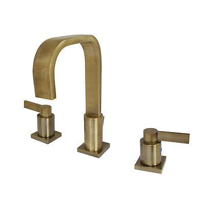 Kingston Brass FSC89633NDL Widespread Lavatory Faucet- Antique Brass Finish