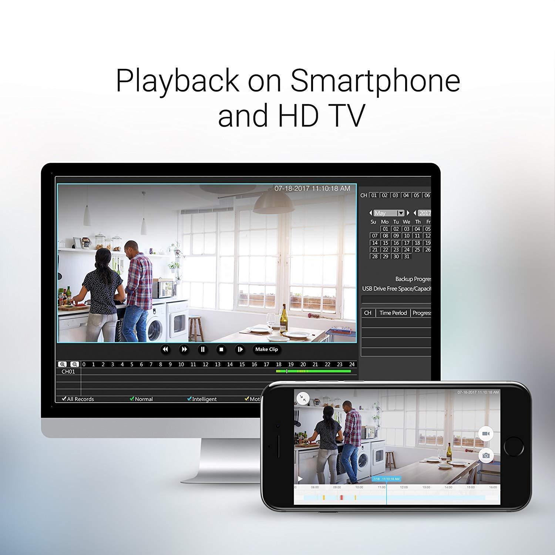 Zmodo 1080p 8CH HDMI NVR 4 720p Wireless Home Video Security Camera System 500GB