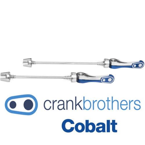 Crank Brothers Cobalt Split QR Skewer Set for Wheels QUICK RELEASE Blue