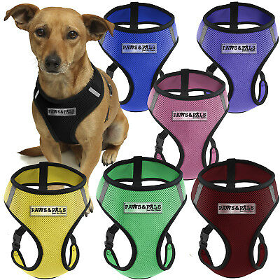 Pet Control Harness Medium Dog Cat Soft Black Mesh Walk Collar Safety Strap Vest
