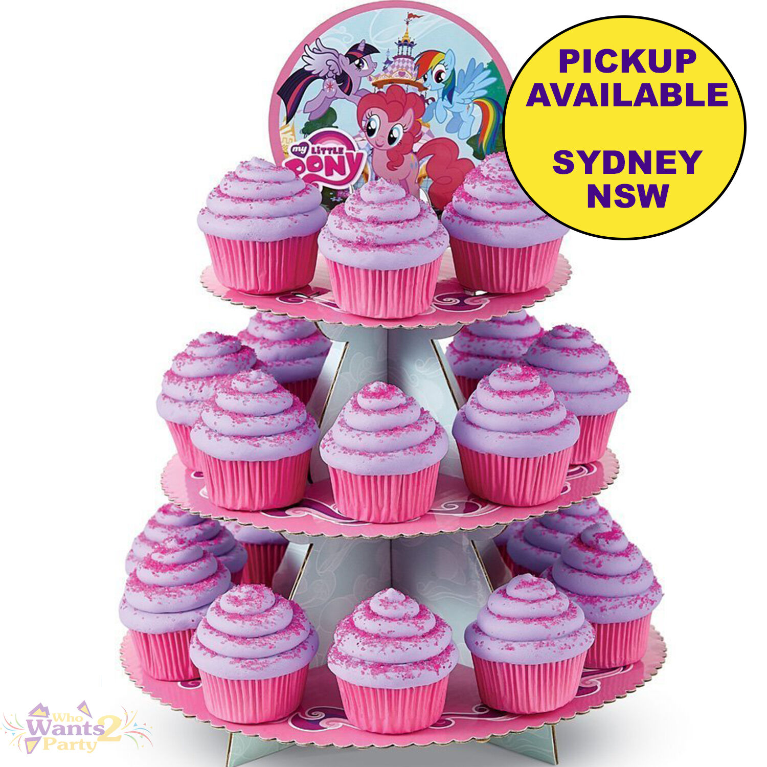 Details About MY LITTLE PONY PARTY SUPPLIES BIRTHDAY CAKE CUPCAKE STAND WILTON TREAT HOLDER