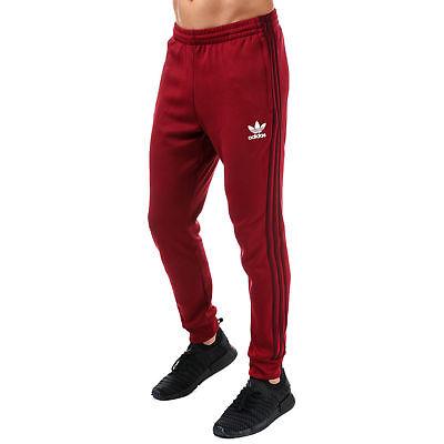 (adidas Originals Superstar Trefoil Track Pant Mens Tracksuit Bottoms Slim Fit)