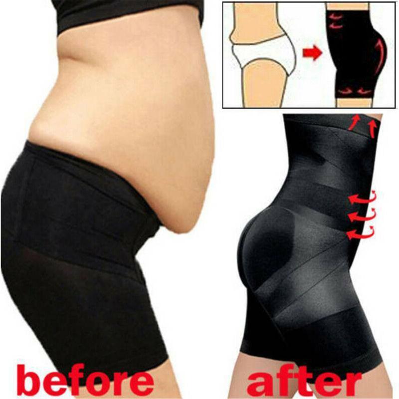 US Women High-Waist Trainer Shaper Tummy Control Body Panties Shapewear Slimming
