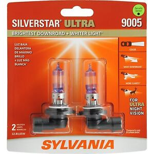 Sylvania Silverstar Ultra 9005SU/2 Headlight Bulbs - Pair