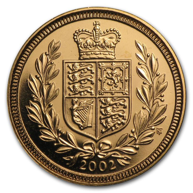2002 Great Britain Gold 1/2 Sovereign Jubilee Bu - Sku#24514