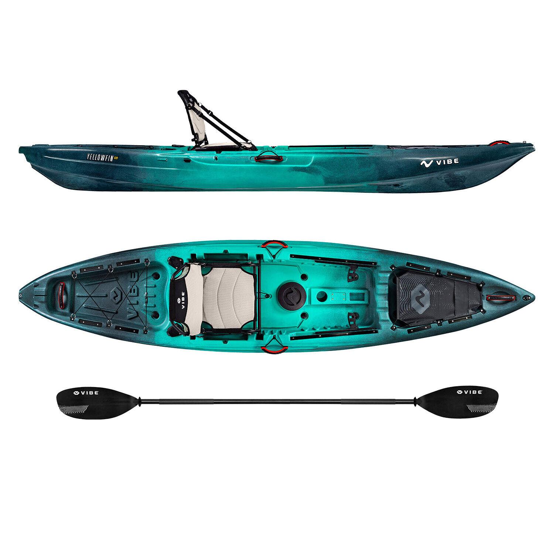 Vibe Yellowfin 120 12' Sit On Top Fishing Angler Kayak | Pad