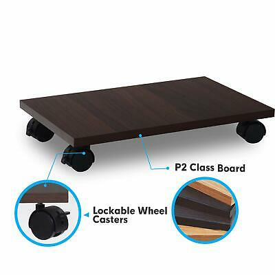CPU & PC Stand Cart / Holder, Lockable Wheel Caster, Slim & Anti-scratching. Lockable Cpu Holder
