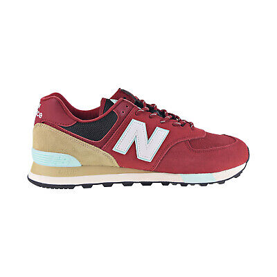 New Balance Classic 574 Men's Shoes Dark Red-Brown-Teal ML574-JHQ