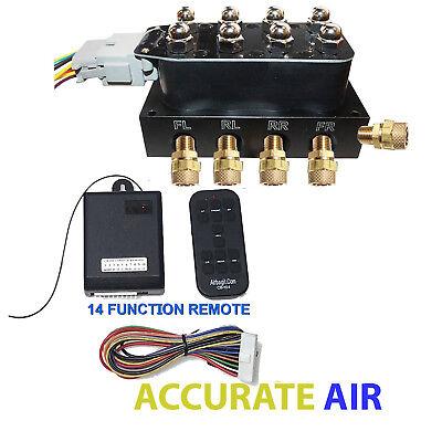 "Accu-rate Air Switch Controller 3/8""  VU4 Valve Manifold  W/ 14 Function Remote"