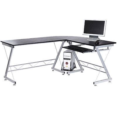 Corner Laptop Desktop Computer Desk L-shaped PC Table Workstation Home Office