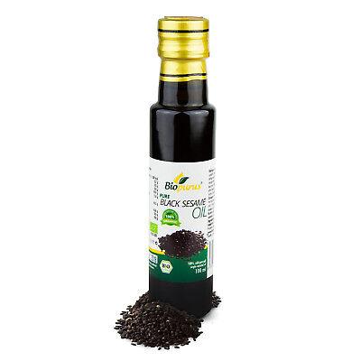 Certificado Orgánico Prensado en Frío Negro Sésamo Aceite 100ml Biopurus