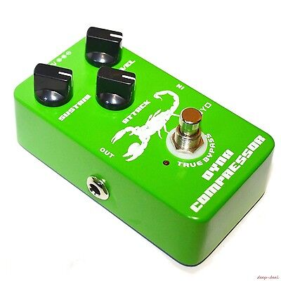 Dynamic Compressor Guitar FX Effects pedal Attack Sustain Levels JF10