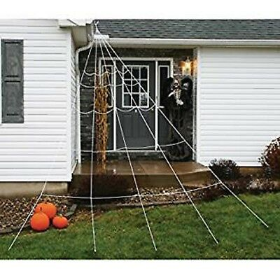 Huge Giant Large Outdoor Yard 12 Rope Spider Web Halloween Scary Spooky - Outdoor Halloween Decorations
