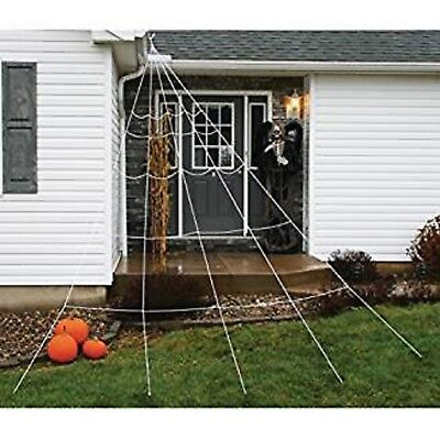 Large Halloween Spider Web (Huge Giant Large Outdoor Yard 12 Rope Spider Web Halloween Scary Spooky)