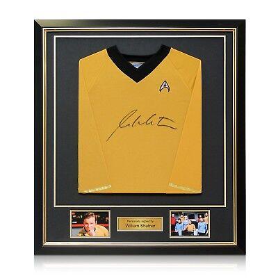 William Shatner Signed Star Trek Jersey Memorabilia Deluxe Framed