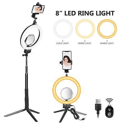 "Neewer Luce LED Anulare 8"" 3200-5600K Treppiedi Specchio Selfie Stick 3 Modalità"