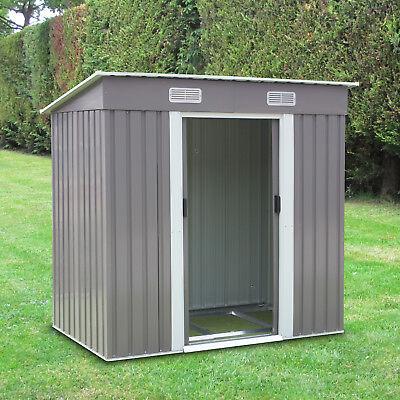 6' x 4' Outdoor Storage Utility Shed Steel Tool House Backyard Garden Lawn Green
