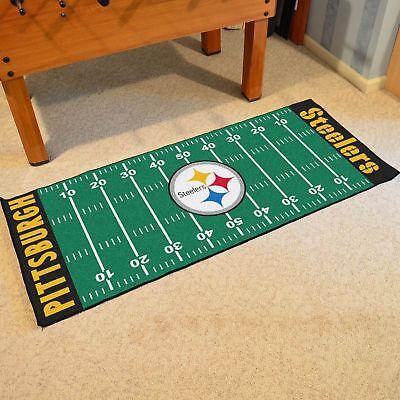 Pittsburgh Steelers NFL Football Field Runner Floor Mat Rug Carpet 30