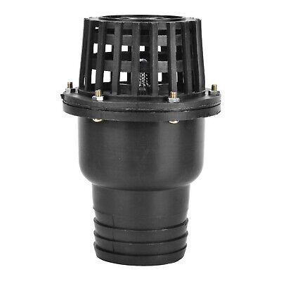 Water Pump Foot Valve Black PVC Low Pressure Flat Check Valve Black 1.5in 2in...