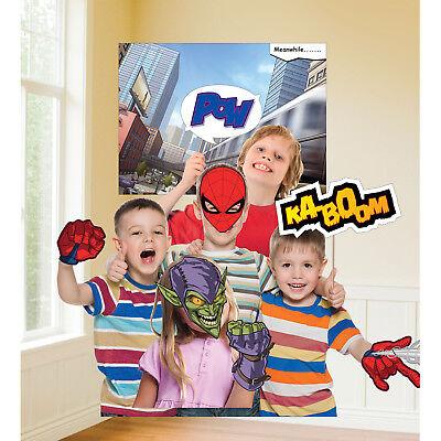 Spiderman Party Foto Wand Szene Setter Hintergrund Dekoration + 11 Requisiten
