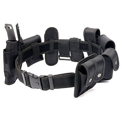 Police Security Guard Modular Enforcement Equipment Duty Belt Tactical Nylon Usa