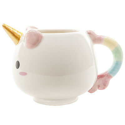 Jumbo Coffee - Smoko Adorable Big Jumbo Pastel Unicorn Handpainted Ceramic Mug Cup Coffee Tea