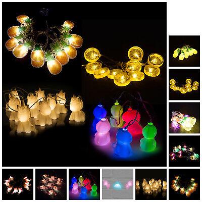 Obst & Tiere Lichterketten *Auswahl* Früchte Party Flamingo Einhorn Deko