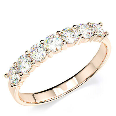 - Solid 14K Solid Rose Gold Anniversary Ring Band