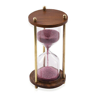 Handcrafted Purple Sand Timer Wooden Hourglass 3 min