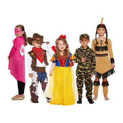 Kids World Book Day Fancy Dress Costumes - Girls Boys Dress Up Halloween Outfit - Girls Book Costumes