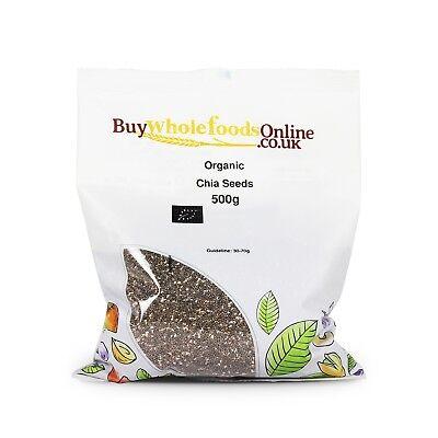 Organic Chia Seeds 500g   Buy Whole Foods Online   Free UK P&P