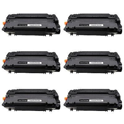 6PK CE255A 55A Toner Cartridge for HP LaserJet Enterprise flow MFP M525c P3010