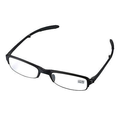 Reading Glasses Black Readers Compact Folding Unisex Presbyopic Glasses (Foldaway Glasses)