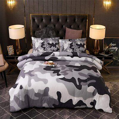 Kids Teens Camo Comforter Set, Boys Camouflage Bedding Sets Twin Size Bedspread