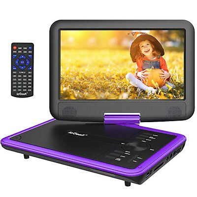 "ieGeeK 11.5"" Portable DVD Player 360° Swivel Screen CD TV VCD Video USB/SD Card"