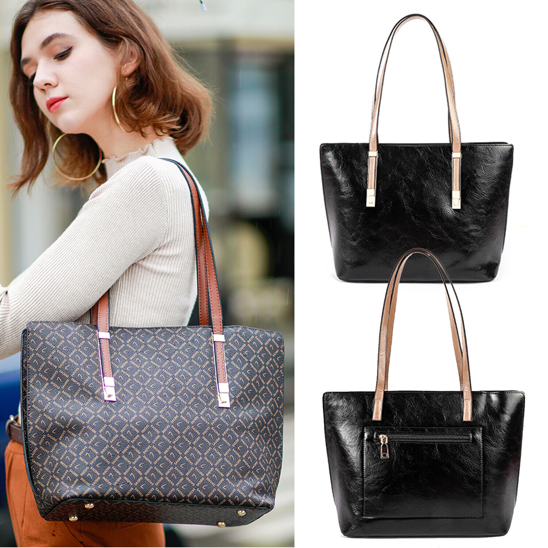 Womens Shoulder Messenger Bag PU Leather Tote Purse Handbag