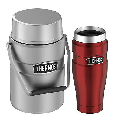 Thermos Stainless King Travel Tumbler 16 oz and Big Boss 47