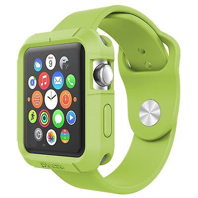 [20pieces/lot] Poetic【Silicone Protection】Case For Apple Watch 42mm (2015) Green Case Green Circle