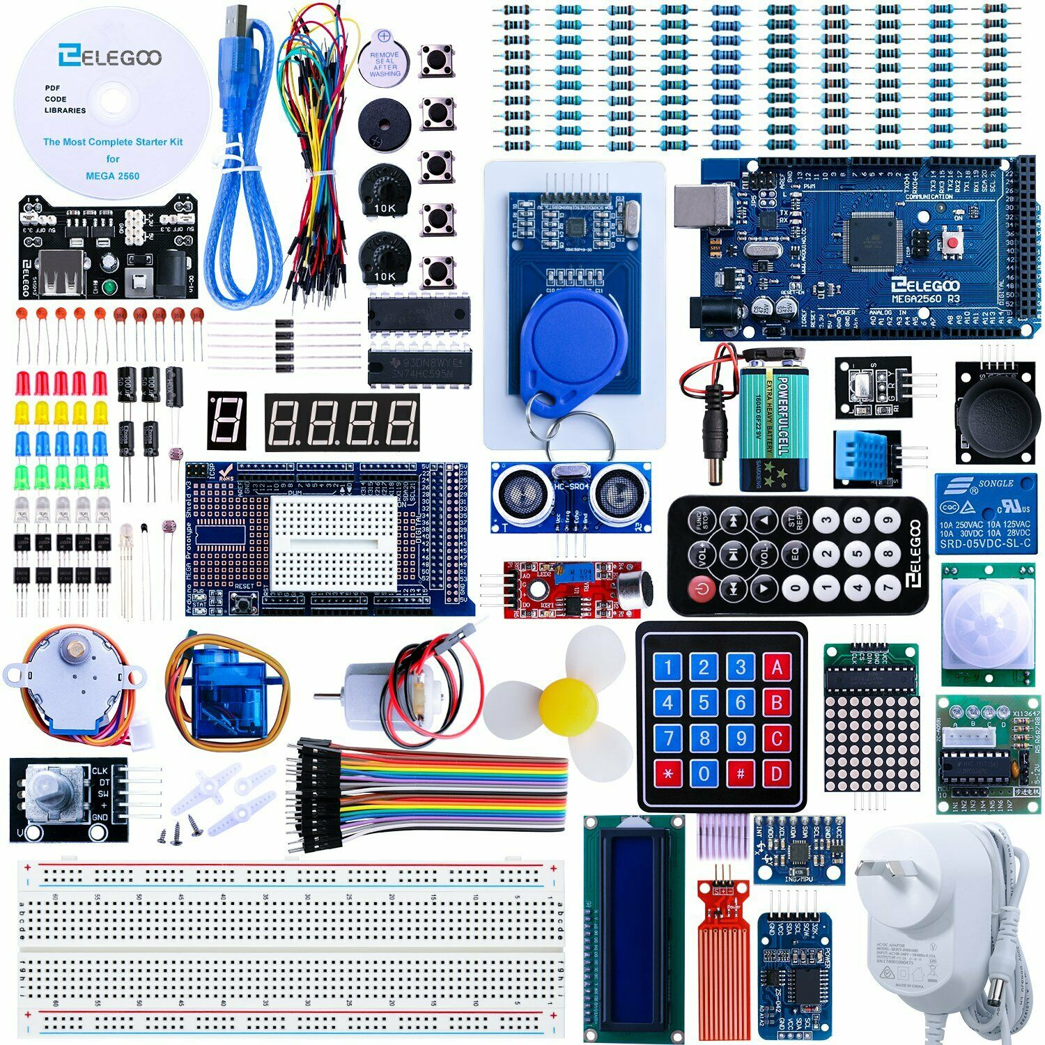 ELEGOO Mega2560 R3 Project The Most Complete Ultimate Starter Kit With Tutorial - $109.98