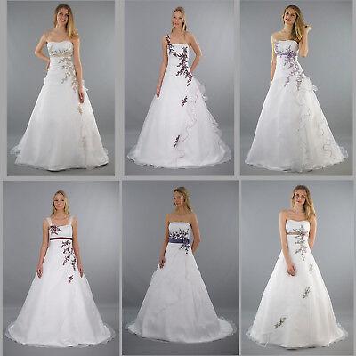 Brautkleid Hochzeitskleid  B Weiß / Gr.34 bis 54  Neu Braut Kleid Kleid