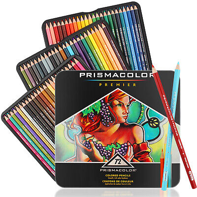 USA - 72 Soft Core Colored Pencil Prismacolor Premier Color Pencils for Drawing