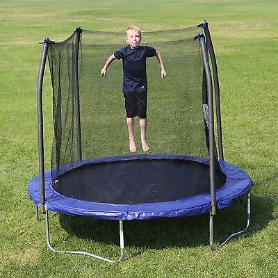 Trampoline Skywalker 8' Round Trampolines with Safety Enclosure Blue Bounce New
